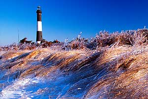 Fire Island after a winter storm.