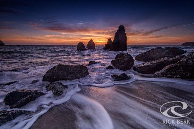 Rodeo Beach at Sunset