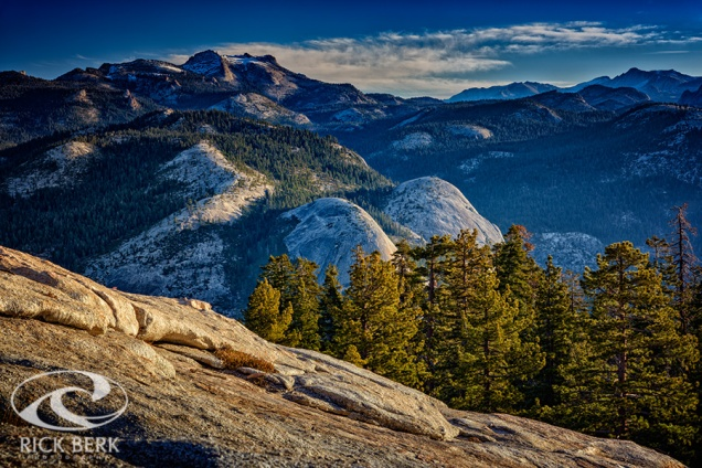 View from the top of Sentinel Dome at sunrise.