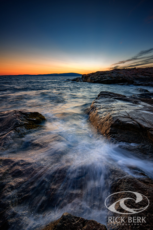 Schoodic Point at Sunset