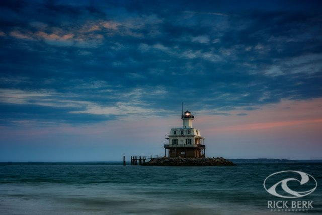 The Bug Light at dusk.