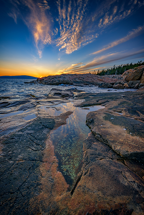 Sunset at Schoodic Point