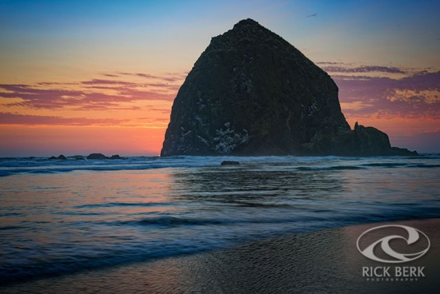 Sunset at Haystack Rock
