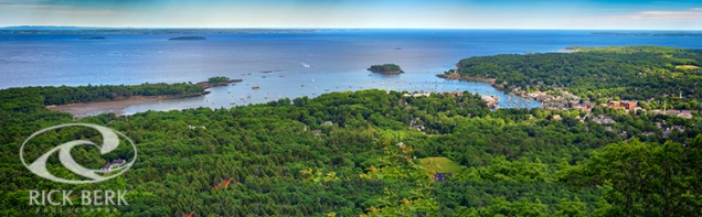 Camden Harbor from the Summit of Mount Battie