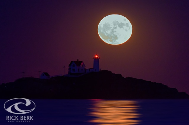 The Nubble and the Full Moon