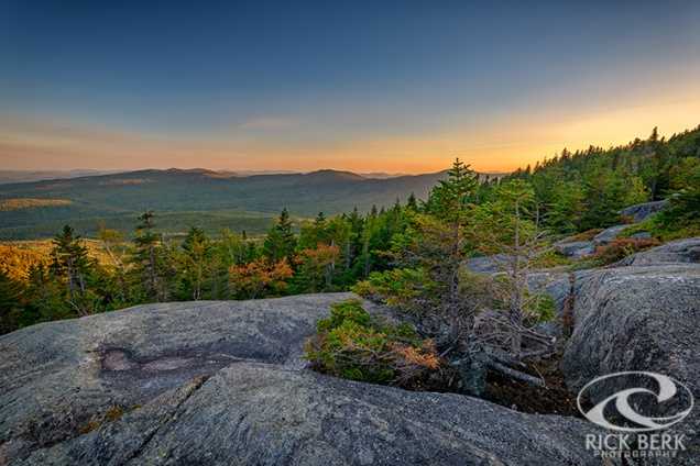 View at Sunset from Tumbledown Mountain