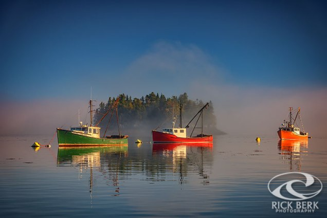 Misty Morning on Johnson Bay