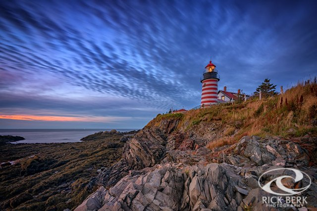 October Sky At West Quoddy Head Light