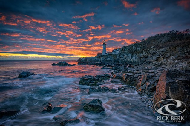 Autumn Sunrise In Cape Elizabeth