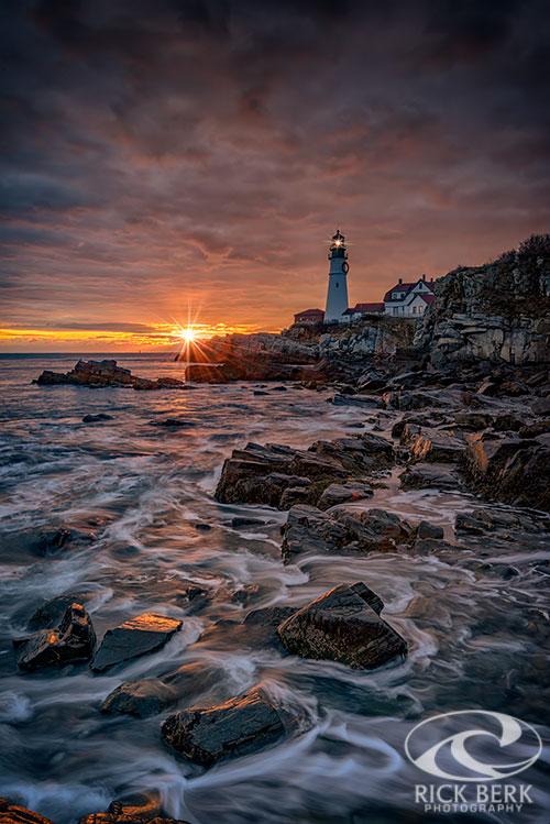 Shining Through At Portland Head Light