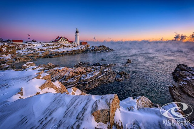 Winter Morning at Portland Head Lighthouse