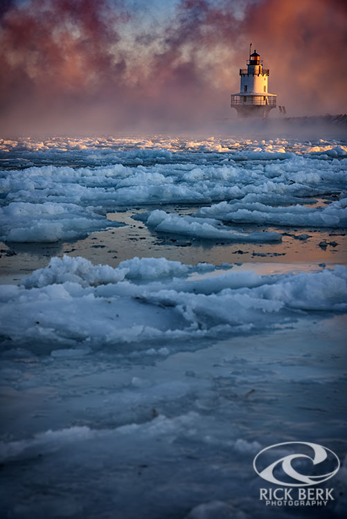 Icy Morning at Spring Point Ledge Light