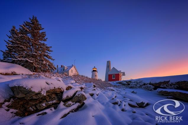 Winter Morning at Pemaquid Point