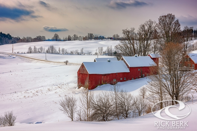 Barns at Jenne Farm in Winter