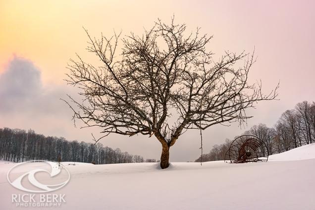 Winter Evening on Cloudland Farm