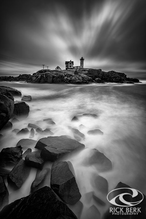 The Nubble in Black and White