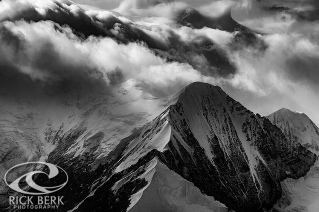 Mountain Peak in Black and White