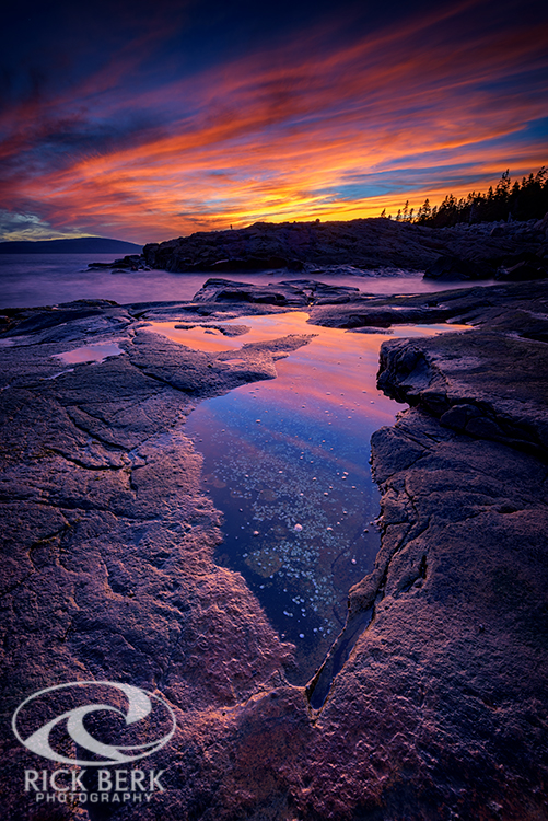 Dusk at Schoodic Point