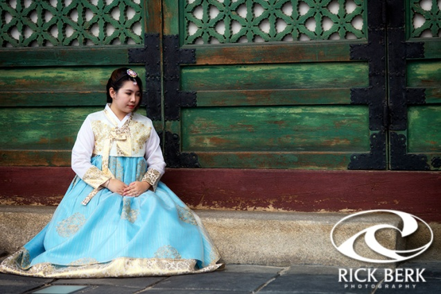 Korean Girl In Hanbok