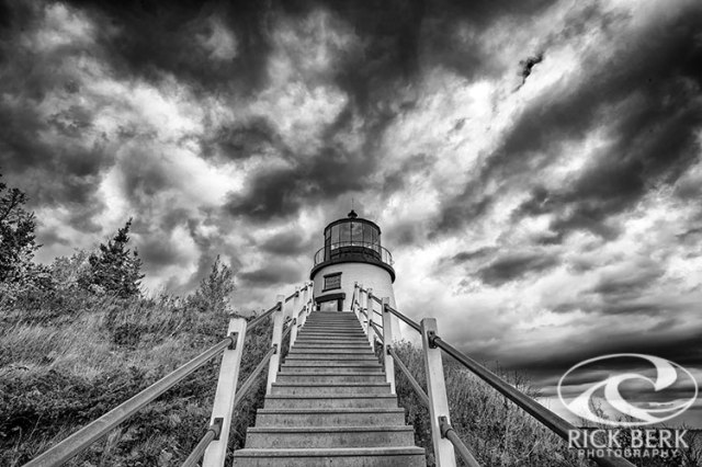 Owls Head Lighthouse In Black And White