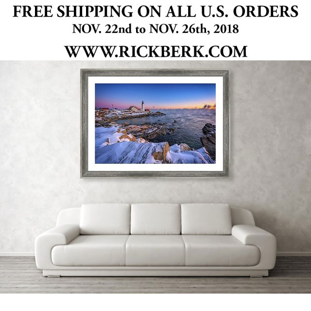 Visit my website at www.rickberk.com to get free shipping all weekend, from November 22 through November 26!