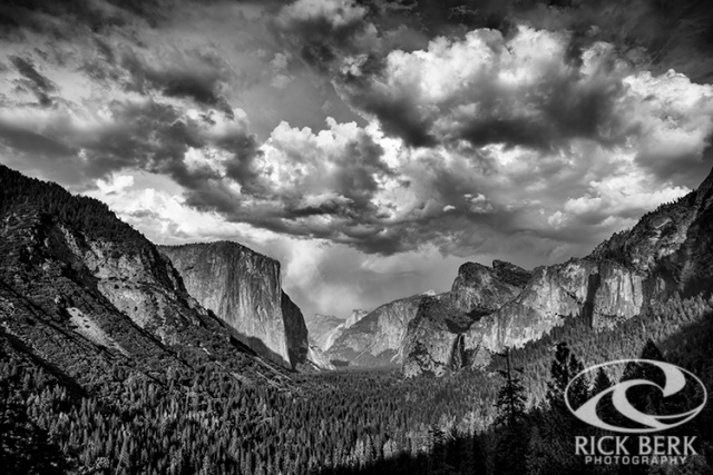 Tunnel View in Black and White