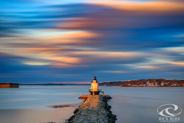 Autumn Skies at Spring Point Ledge Lighthouse