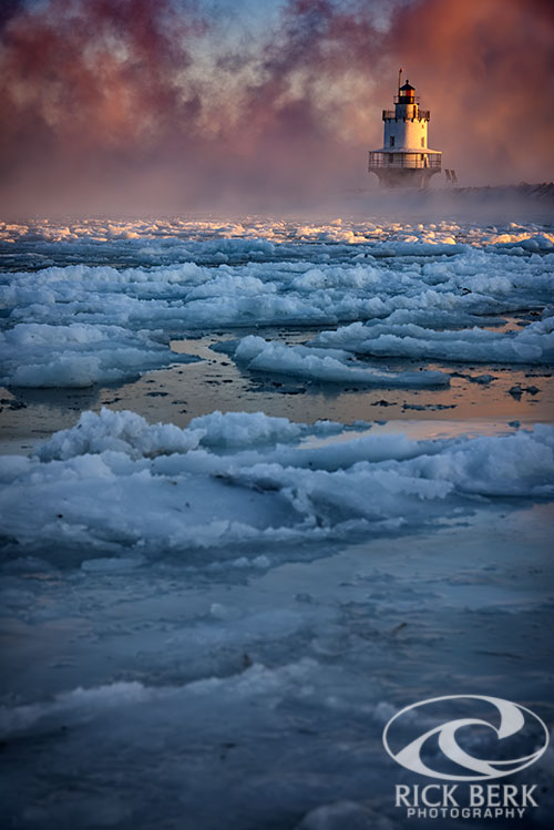 Icy Morning at Spring Point Ledge Lighthouse