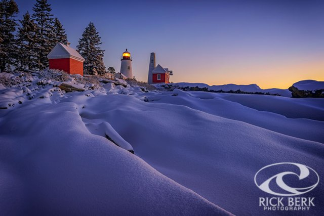 Newfallen Snow At Pemaquid Point