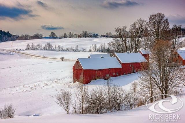Barns At Jenne Farm In Winter
