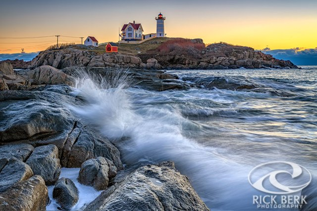 High Tide At Cape Neddick December 2018